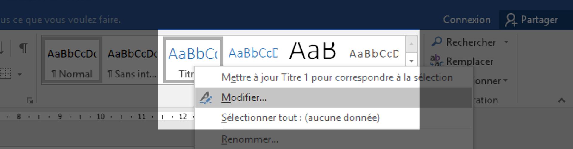 Modifier les styles du document